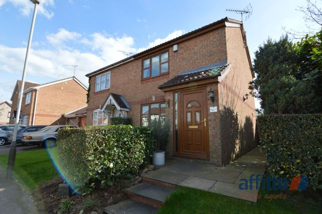 Thumbnail Semi-detached house to rent in Hazeldene Road, Hamilton, Leicester