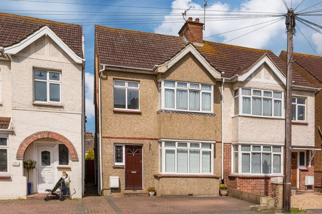 Thumbnail Semi-detached house for sale in Links Road, Portslade, Brighton