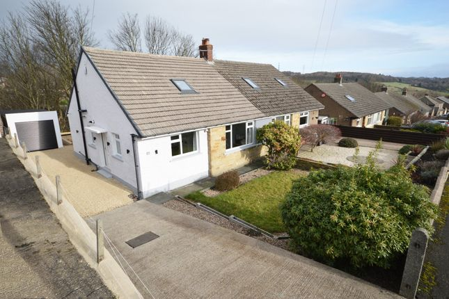 Thumbnail Semi-detached bungalow for sale in Woodland View, Briarlyn Road, Lindley, Huddersfield, West Yorkshire