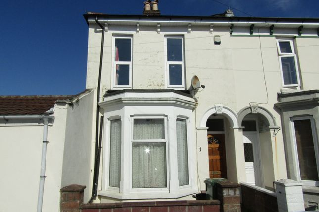 Thumbnail End terrace house to rent in Edmund Road, Southsea, Hampshire