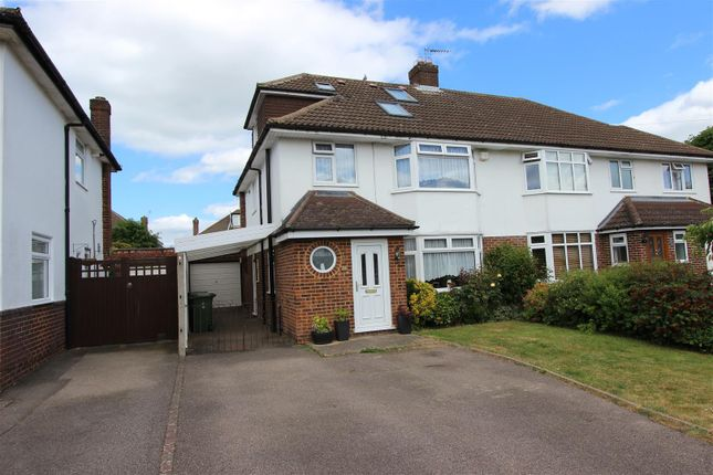 Thumbnail Semi-detached house for sale in Tile Kiln Crescent, Leverstock Green, Hertfordshire