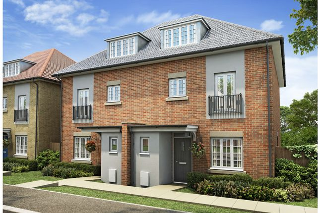 Thumbnail Town house for sale in Plot 21, Russell Gardens, London Road, Downham Market, Norfolk.