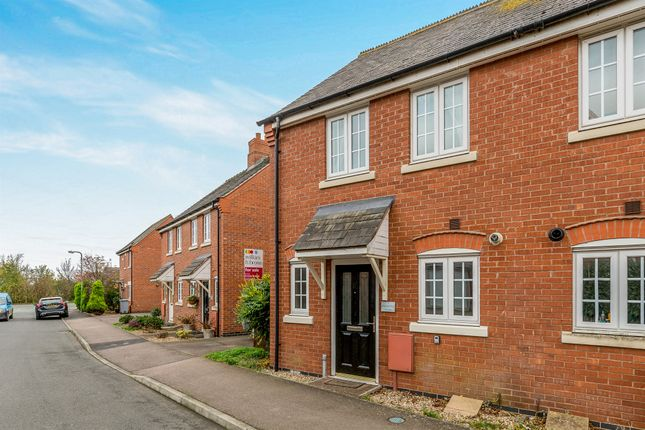 Thumbnail End terrace house for sale in Nightingale Drive, Desborough, Kettering