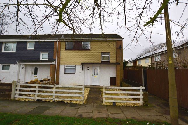 Thumbnail End terrace house to rent in Mallowdale Close, Eastham, Wirral