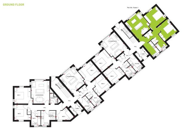 "2 bedroom flat for sale in ""Foxton 1"" at Beggars Lane, Leicester Forest East, Leicester"