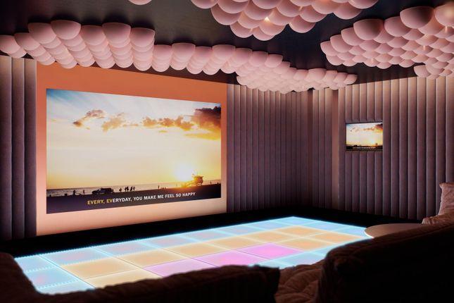 Media Room of No.3, Upper Riverside, Cutter Lane, Greenwich Peninsula SE10