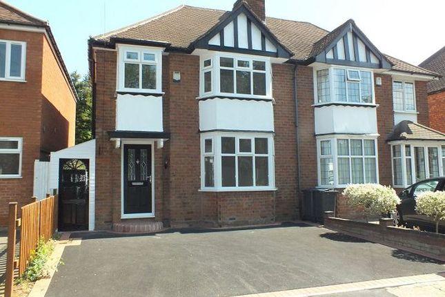Thumbnail Semi-detached house to rent in Barton Lodge Road, Hall Green, Birmingham