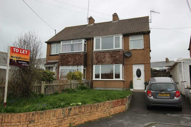 Thumbnail Semi-detached house to rent in Shute Park Road, Plymstock