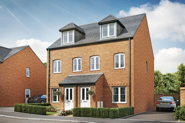"Thumbnail Semi-detached house for sale in ""The Souter"" at Cranford Road, Kettering"
