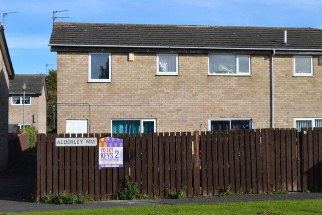 Thumbnail Semi-detached house to rent in Alderley Way, Cramlington