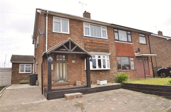 Thumbnail Semi-detached house for sale in Wickenden Crescent, Willesborough, Ashford