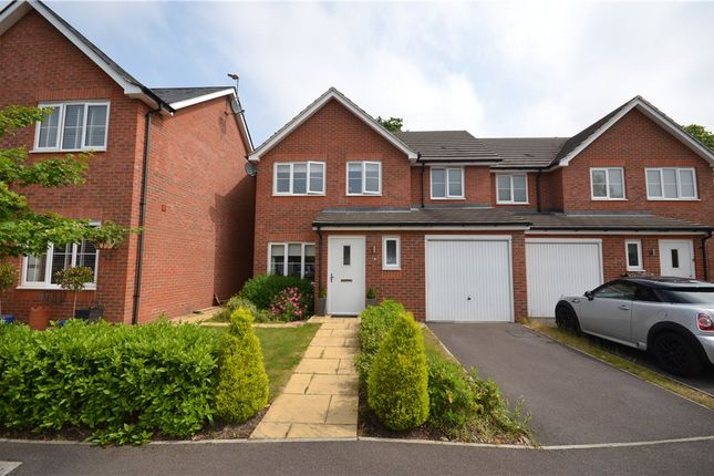 Thumbnail Semi-detached house for sale in Hazlewood Drive, Mytchett, Camberley