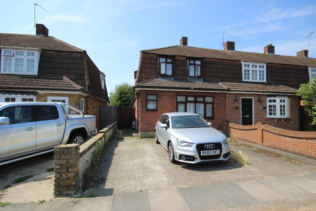 Thumbnail End terrace house to rent in Harrow Crescent, Romford