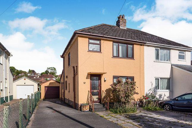 Thumbnail 3 bed semi-detached house for sale in Rydon Road, Kingsteignton, Newton Abbot, Devon