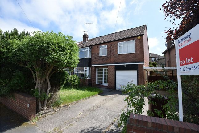 Thumbnail Semi-detached house to rent in Sandhill Oval, Leeds, West Yorkshire