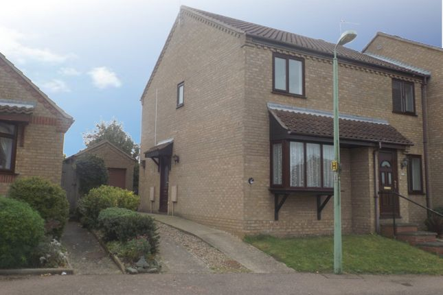 Thumbnail End terrace house to rent in Bluebell Way, Worlingham