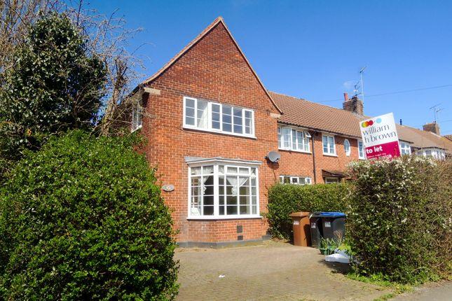 Thumbnail End terrace house to rent in Handside Lane, Welwyn Garden City
