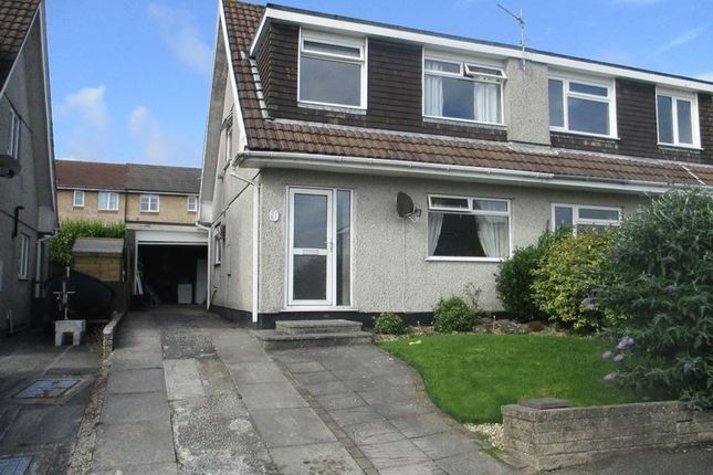 Thumbnail Semi-detached house to rent in Hallane Road, Boscoppa, St. Austell