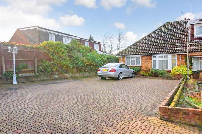 Thumbnail Semi-detached bungalow for sale in Field Close, Abridge, Romford, Essex