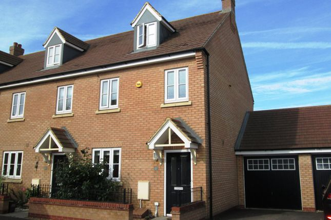 Thumbnail End terrace house for sale in Dartmoor Way, Biggleswade