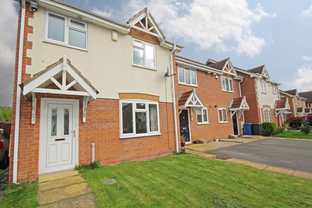 Thumbnail End terrace house to rent in Meadow Brook Close, Littleover, Derby, Derbyshire