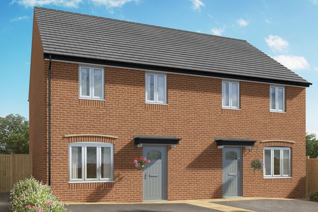 """Thumbnail Semi-detached house for sale in """"The Ailsworth"""" at Hill Top Close, Market Harborough"""