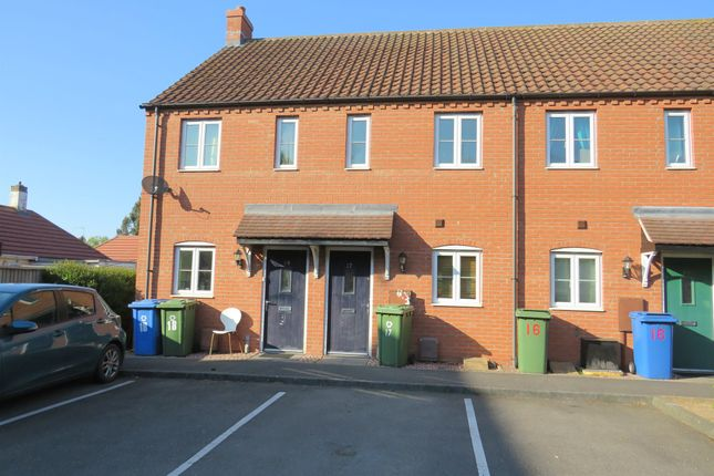 Thumbnail 2 bed terraced house for sale in The Paddock, Kirton, Boston