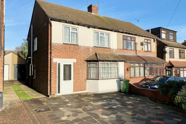 Thumbnail Semi-detached house for sale in Squirrels Heath Road, Harold Wood, Romford