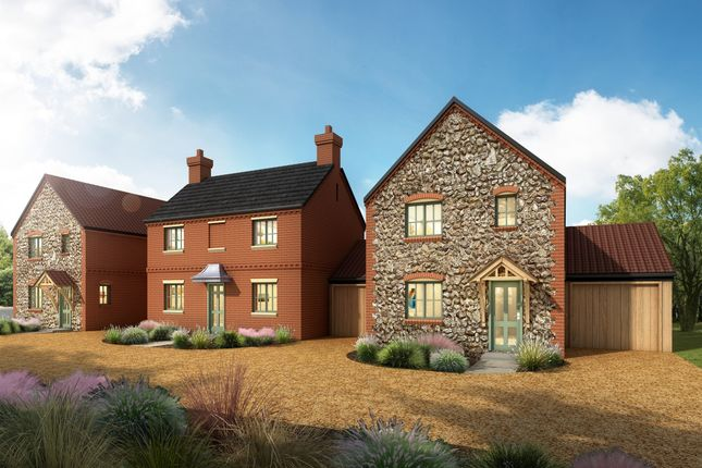 Thumbnail Link-detached house for sale in Foulsham Road, Bintree, Dereham