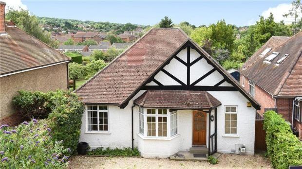 Thumbnail Detached bungalow for sale in Ridgemount, Guildford, Surrey