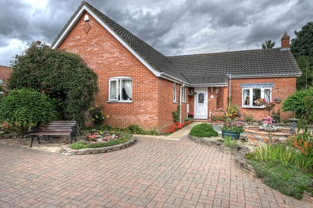 Thumbnail Detached bungalow for sale in Hardingham Street, Hingham, Norwich
