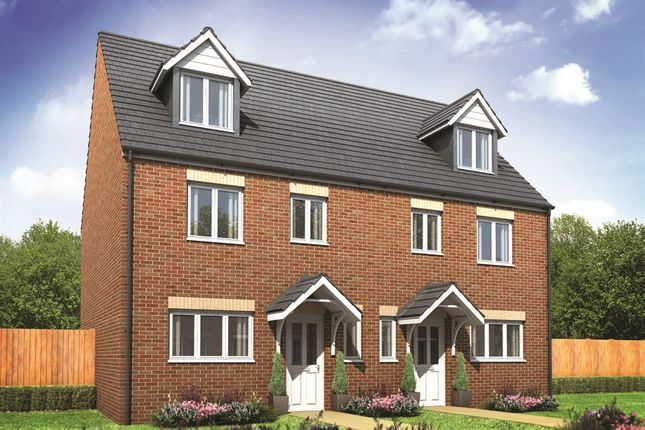 "Thumbnail Semi-detached house for sale in ""The Leicester "" at Hewell Road, Redditch"