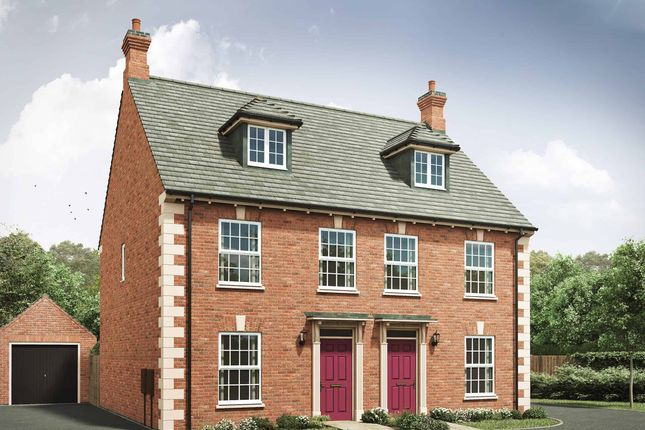 """3 bed semi-detached house for sale in """"The Thornton G"""" at Davidsons At Wellington Place, Leicester Road, Market Harborough LE16"""