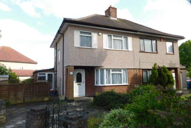 Thumbnail Semi-detached house to rent in Milverton Drive, Ickenham