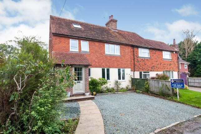 Thumbnail Semi-detached house for sale in Down Cottages, Old Road, Magham Down, Hailsham