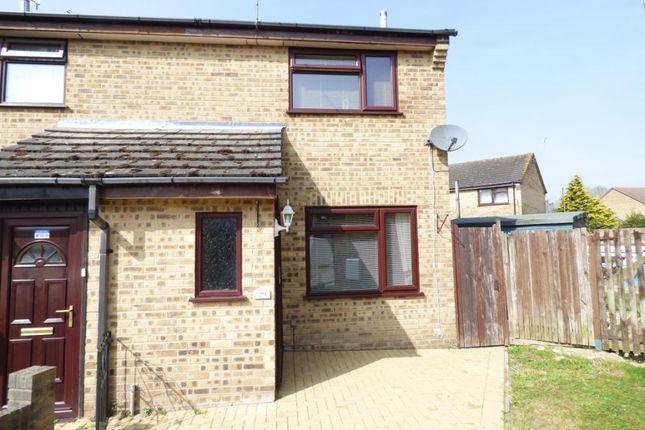 Thumbnail End terrace house for sale in Elliot Close, Totton