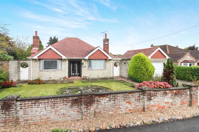 Thumbnail Detached bungalow for sale in Station Road, Cranswick, Driffield