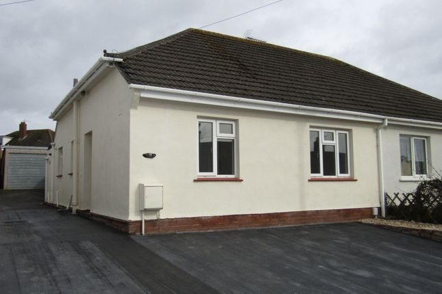 Thumbnail Bungalow to rent in Brookside Crescent, Exeter