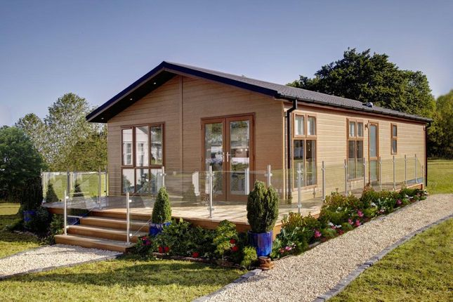 Thumbnail 2 bed mobile/park home for sale in Battisford Park Luxury Lodge Developments, Plympton, Plymouth