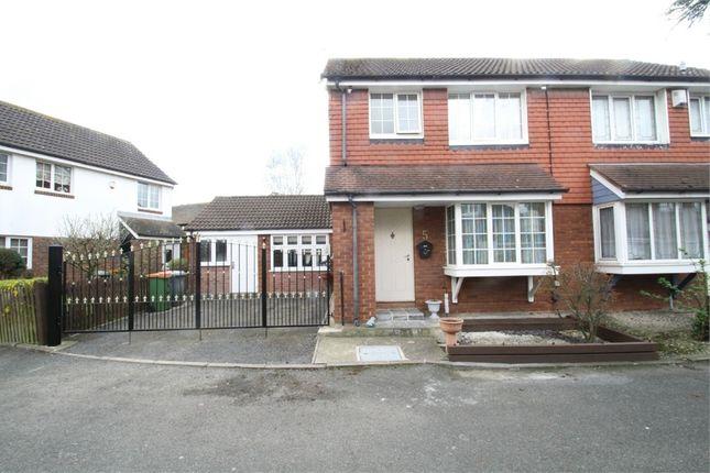 Thumbnail Semi-detached house for sale in Vanbrugh Close, Beckton, London