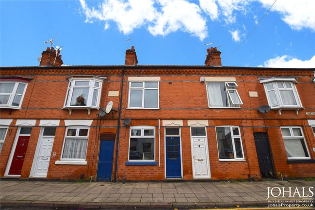 Thumbnail 3 bed terraced house to rent in Dunton Street, Leicester, Leicestershire