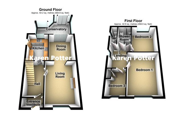 3d Floor Plans of Andreas Close, Birkdale, Southport PR8