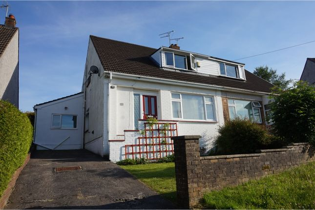 Thumbnail Semi-detached house for sale in Treharne Drive, Bridgend