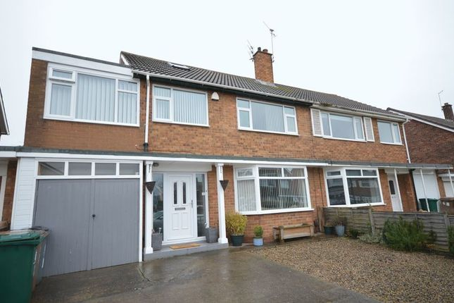 Thumbnail Semi-detached house for sale in Western Way, Whitley Bay