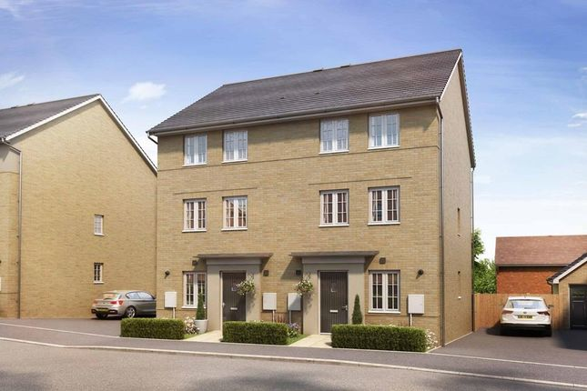 "Thumbnail Semi-detached house for sale in ""Stambourne"" at Marsh Lane, Harlow"