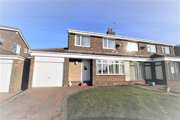 Thumbnail Semi-detached house to rent in Elm Way, Hilda Park, Chester Le Street