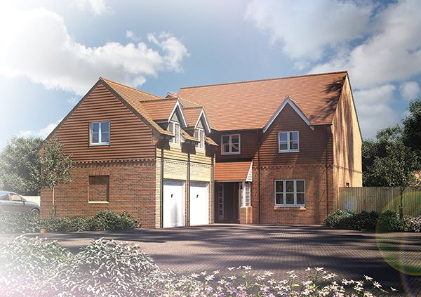 "Thumbnail Detached house for sale in ""The Chase"" at Tile Barn Row, Woolton Hill, Newbury"