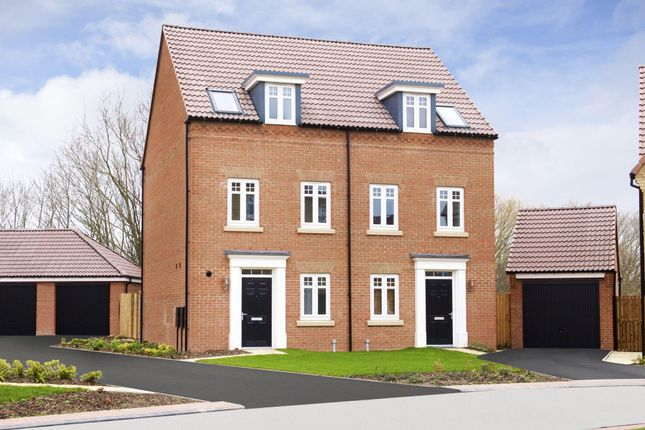"Thumbnail Semi-detached house for sale in ""Greenwood"" at Barnsley Road, Flockton, Wakefield"