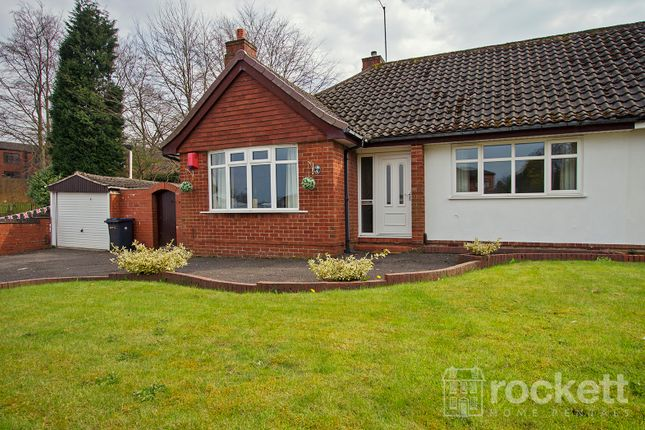 Thumbnail Semi-detached bungalow to rent in Higherland, Newcastle-Under-Lyme