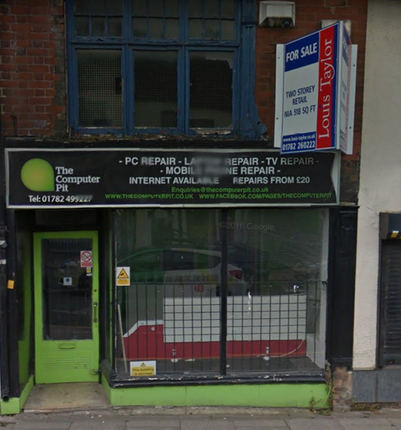 Retail premises for sale in Hope Street, Hanley